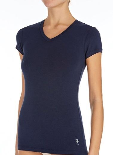 U.S. Polo Assn. V Yaka T-Shirt Lacivert